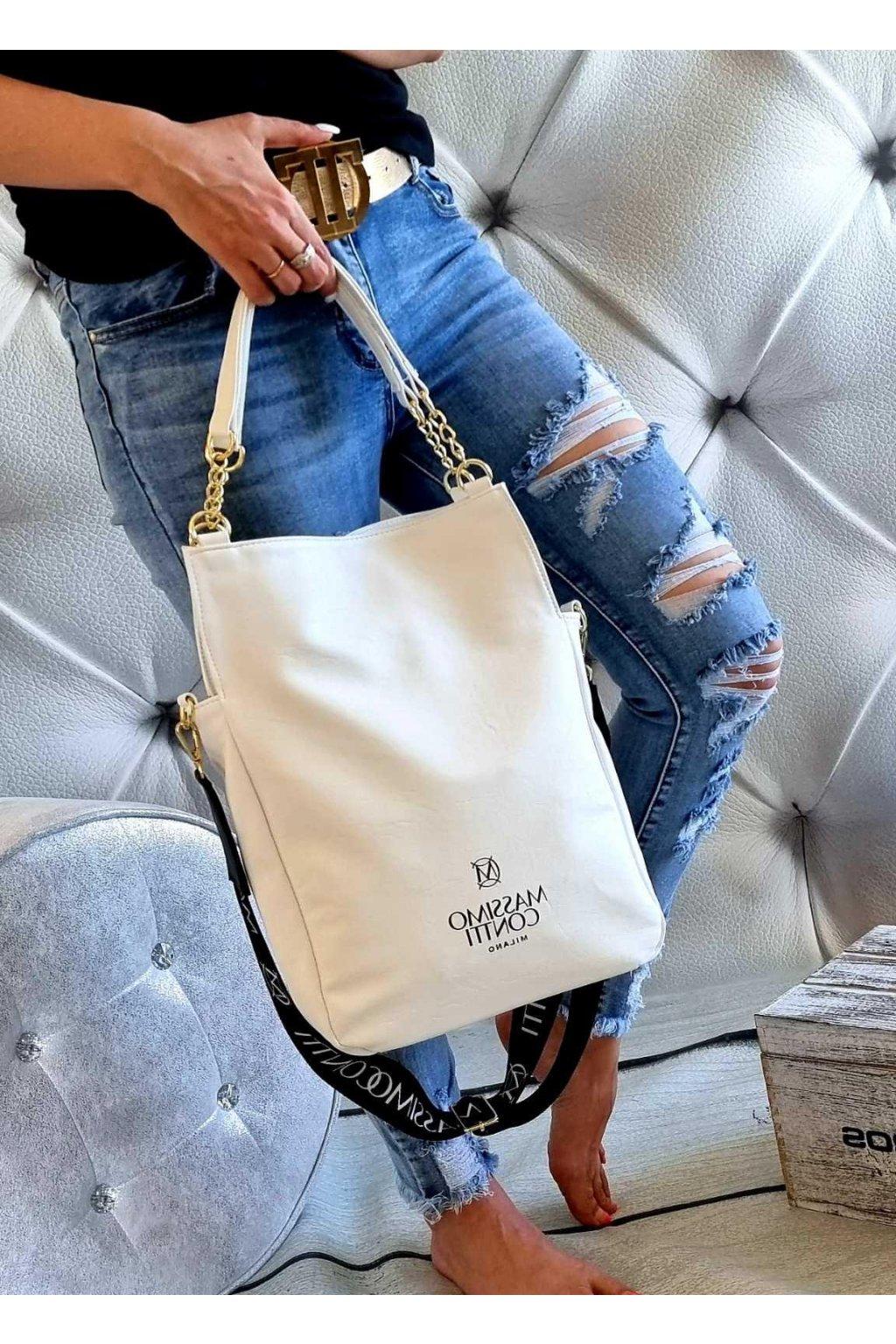 massimo contti cuttys bílá italy fashion značková luxusní kabelka