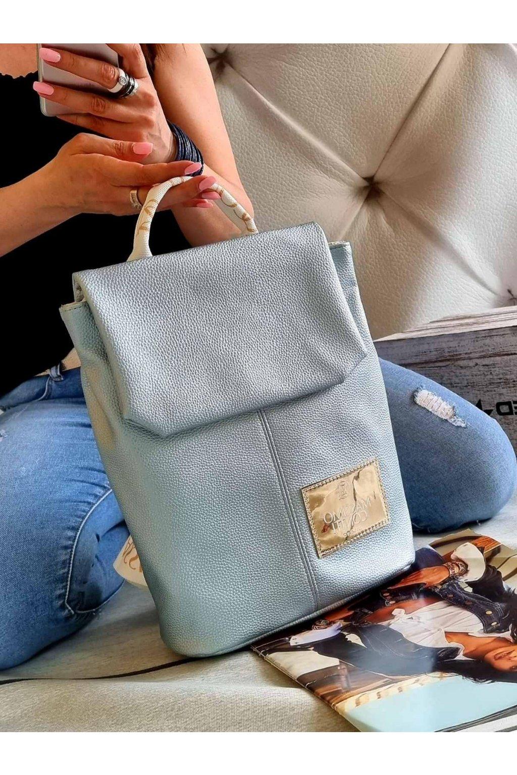 MASSIMO contti batoh značkový italy fashion luxusní značkový batoh kvalita modrý