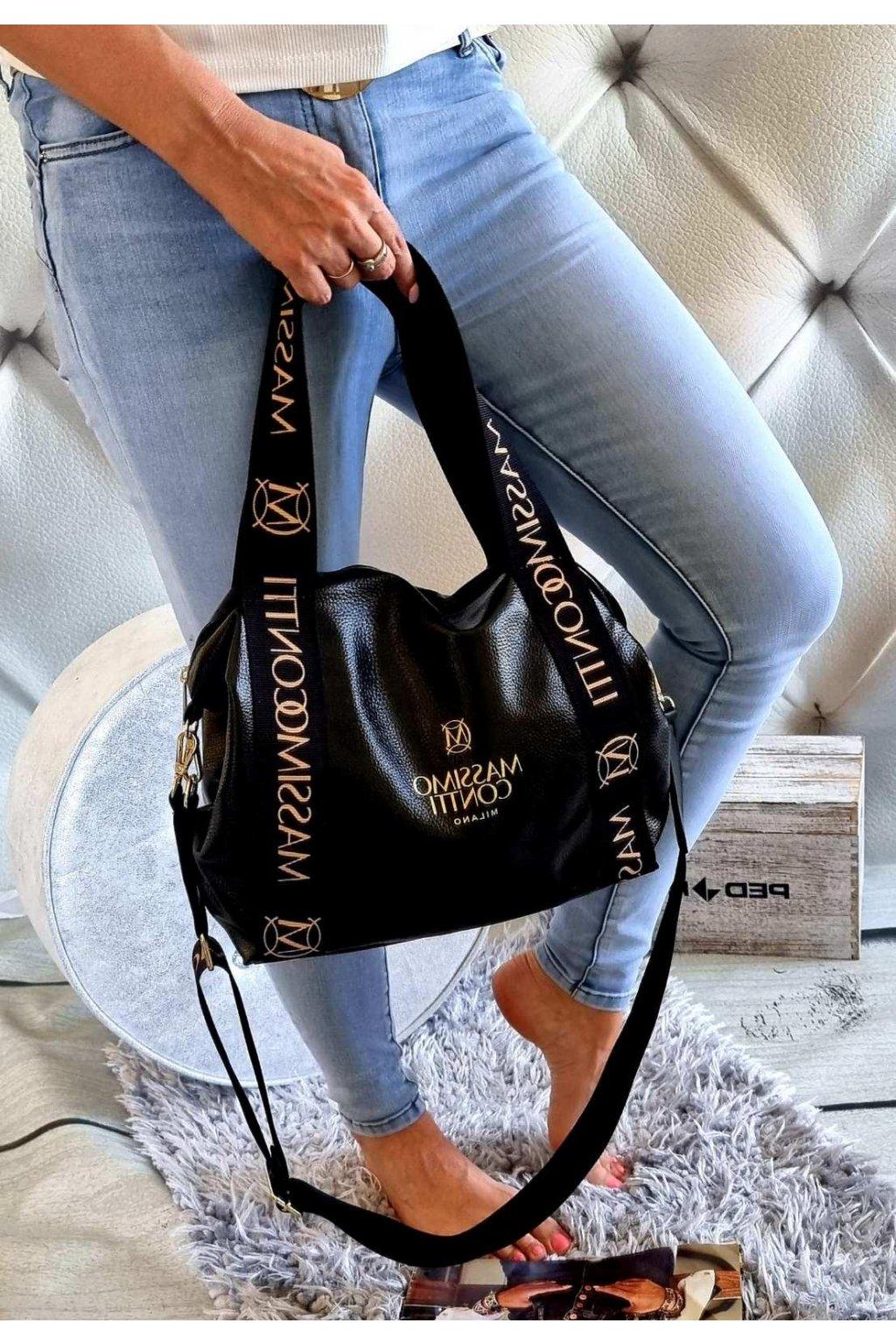 massimo contti fashion černá kabelka luxusní trendy značková kabelka italy fashion