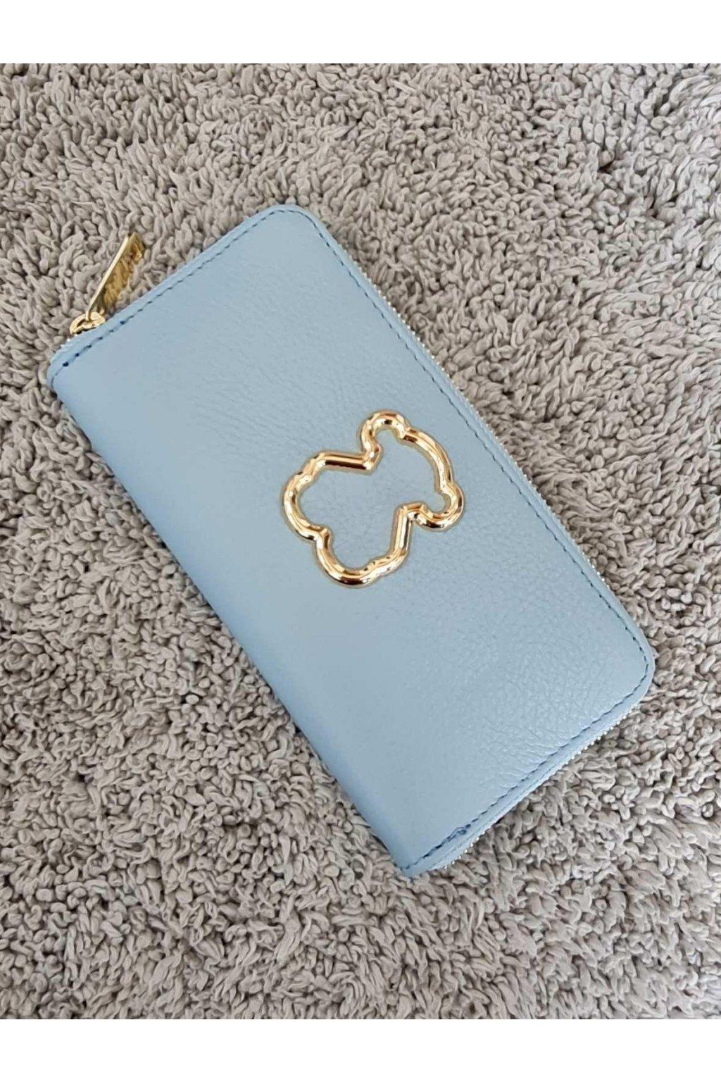 Dámská kožená peněženka modrá