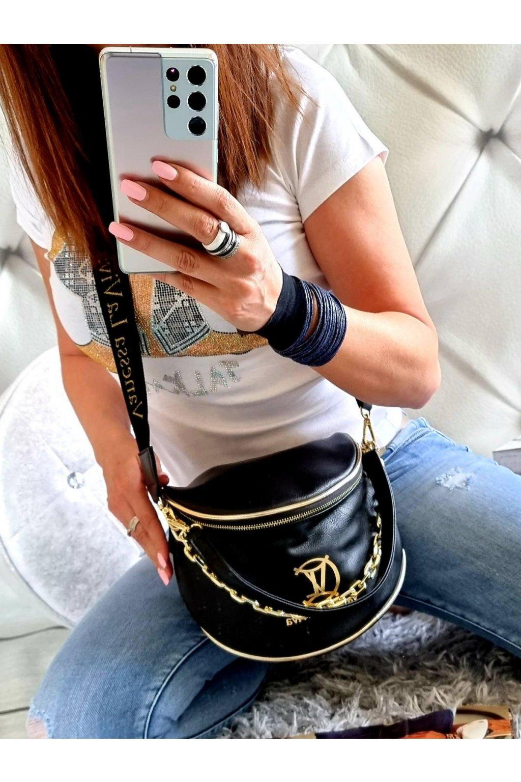 crossbody Vanassa black dámská crossbody značková kabelka černá