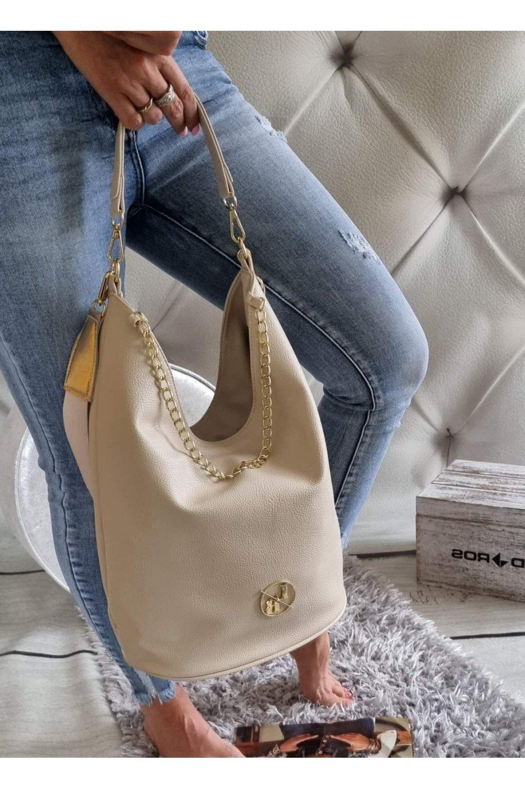 kabelka laura biaggi elegant značková luxusní kabelka beige