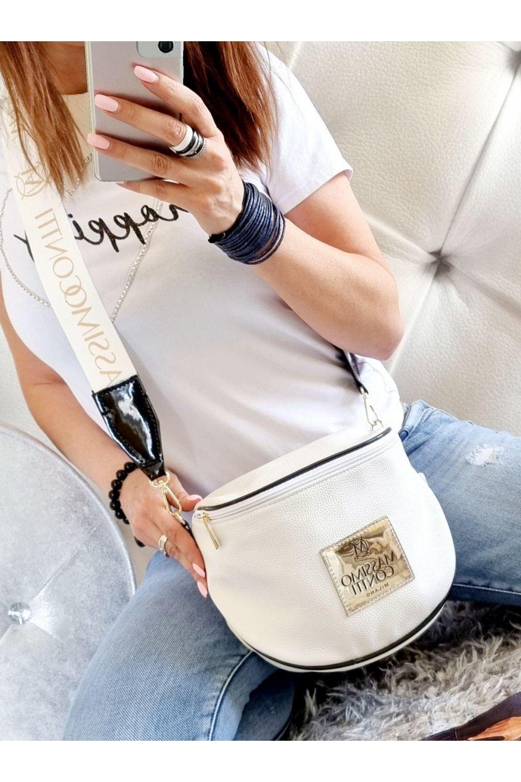 Massimo contti kabelka crossbody značková luxusní kabelka italy fashion white bílá