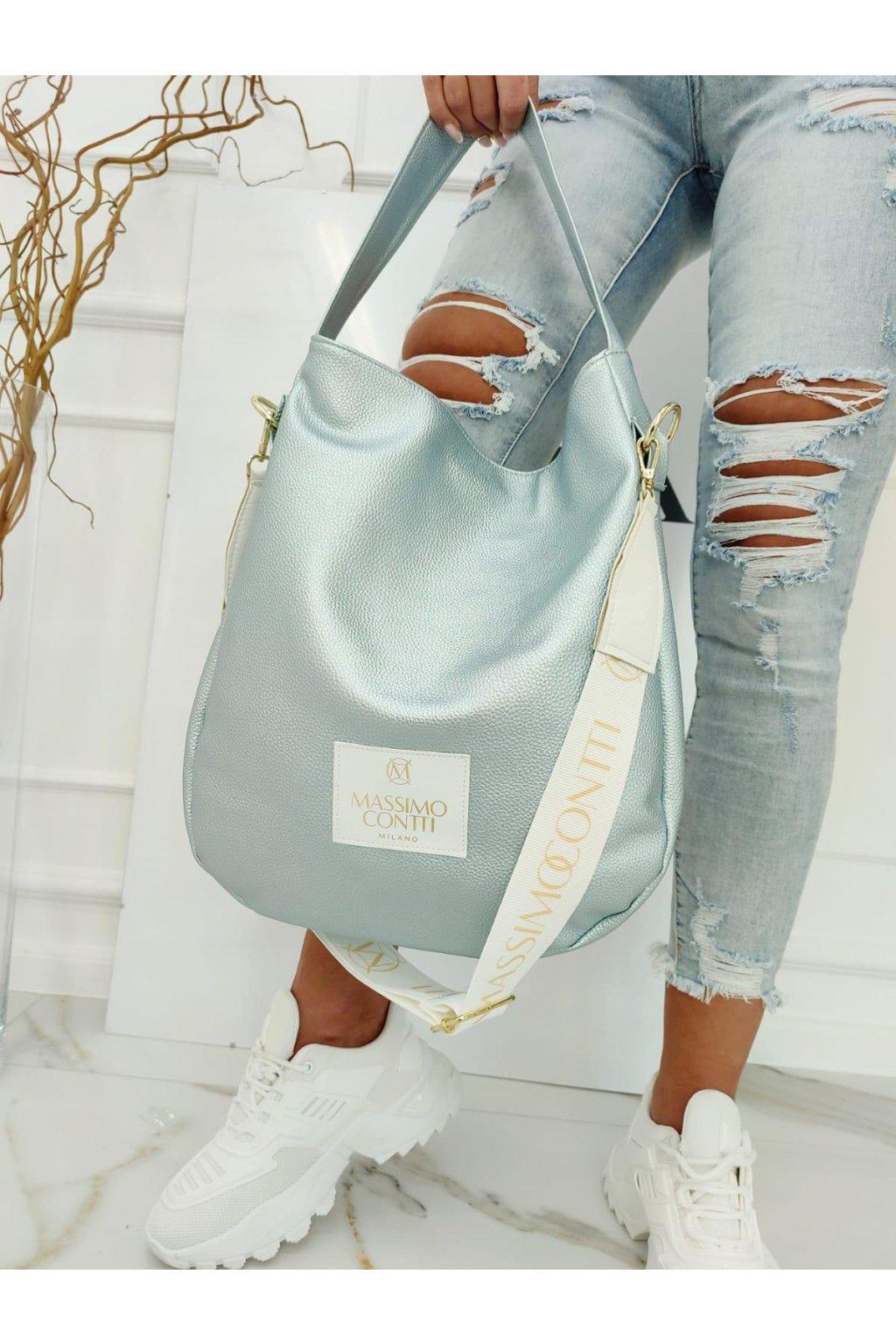 Massimo contti kabelka trendy značková luxusní kabelka italy fashion světle modrá
