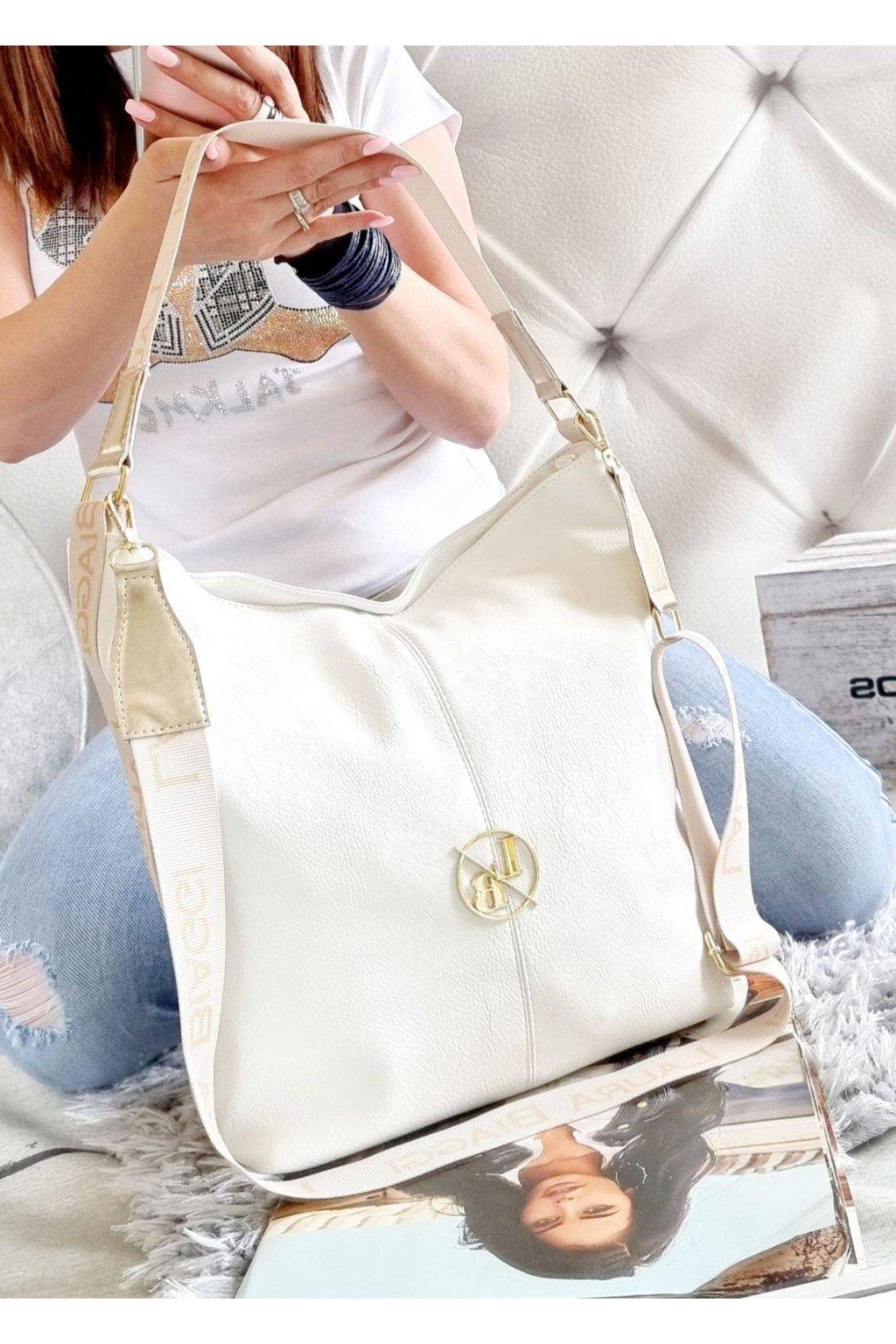 Dámská luxusní kabelka Laura Biaggi bílá