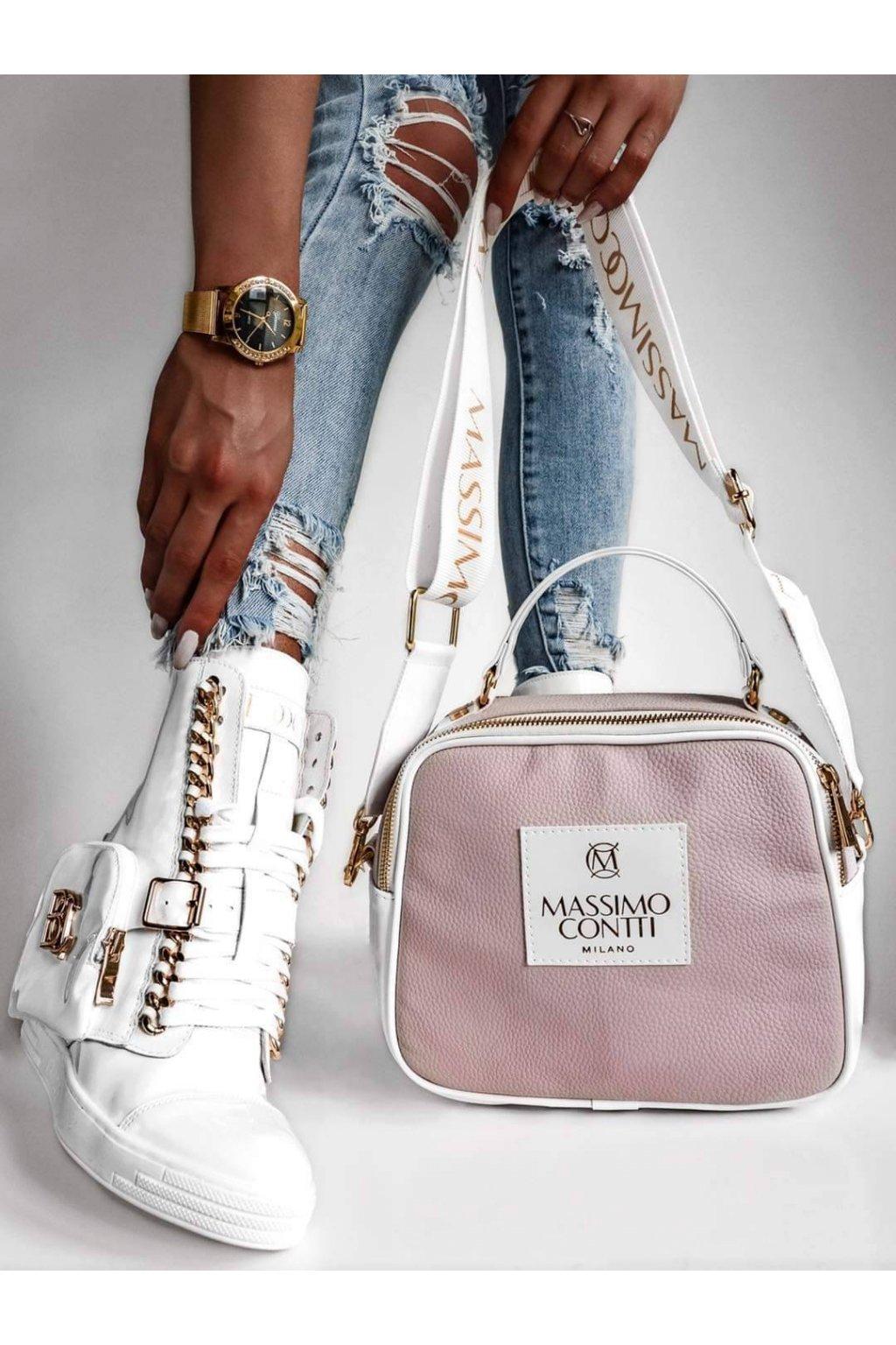 Dámská kabelka a crossbody Massimo růžová
