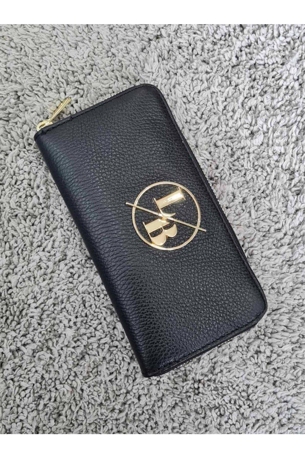 Kožená peněženka Laura Biaggi černá