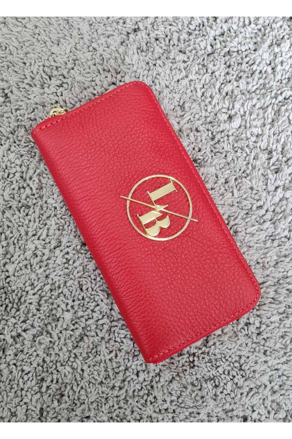 Kožená peněženka Laura Biaggi červená