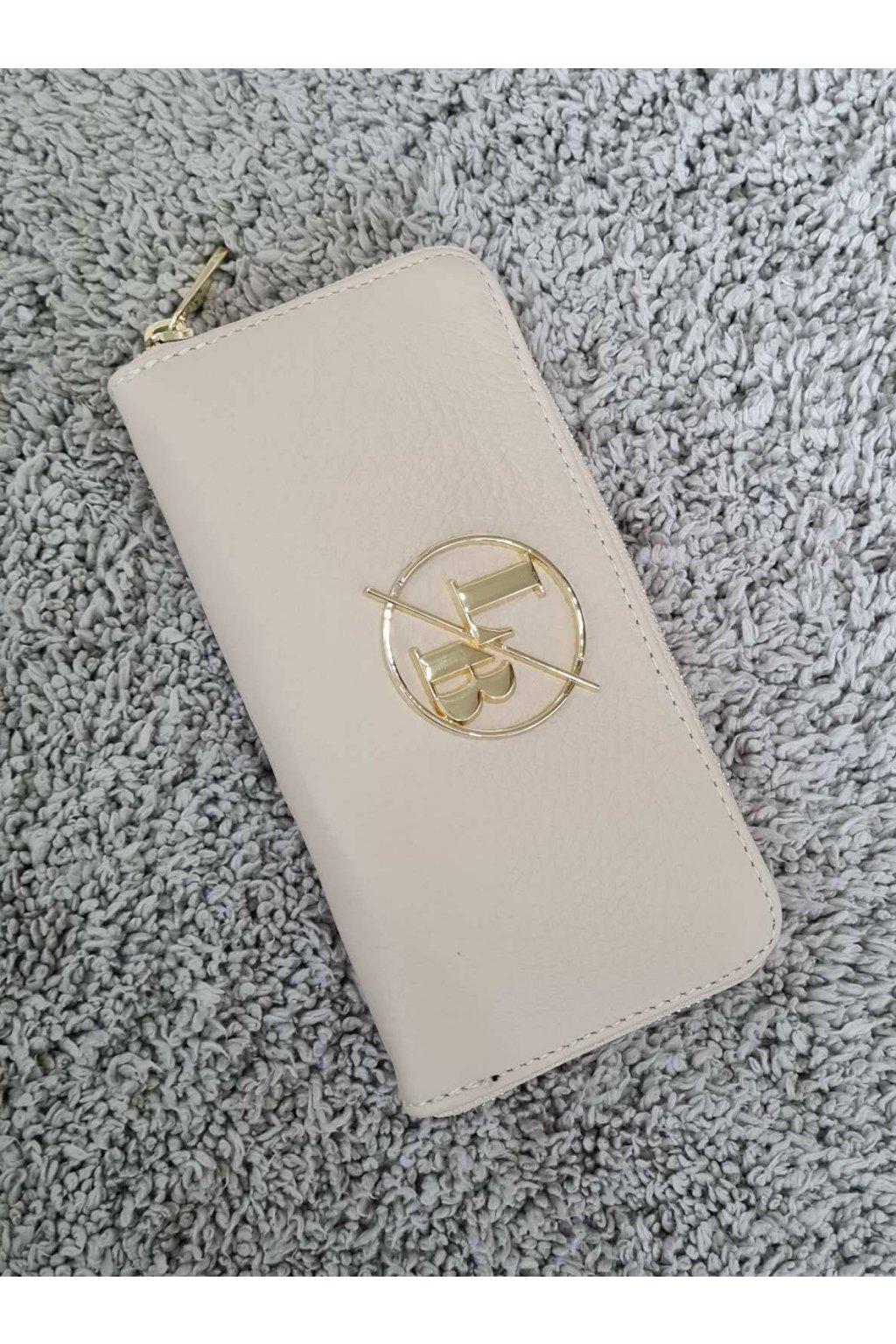 Kožená peněženka Laura Biaggi béžová