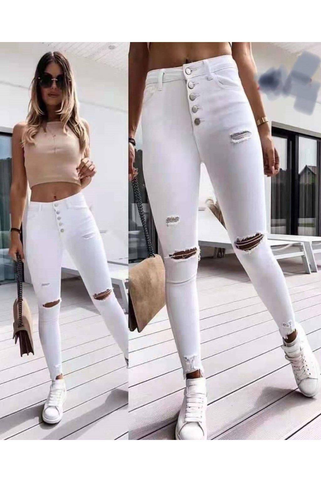 Dámské jeansy bílé