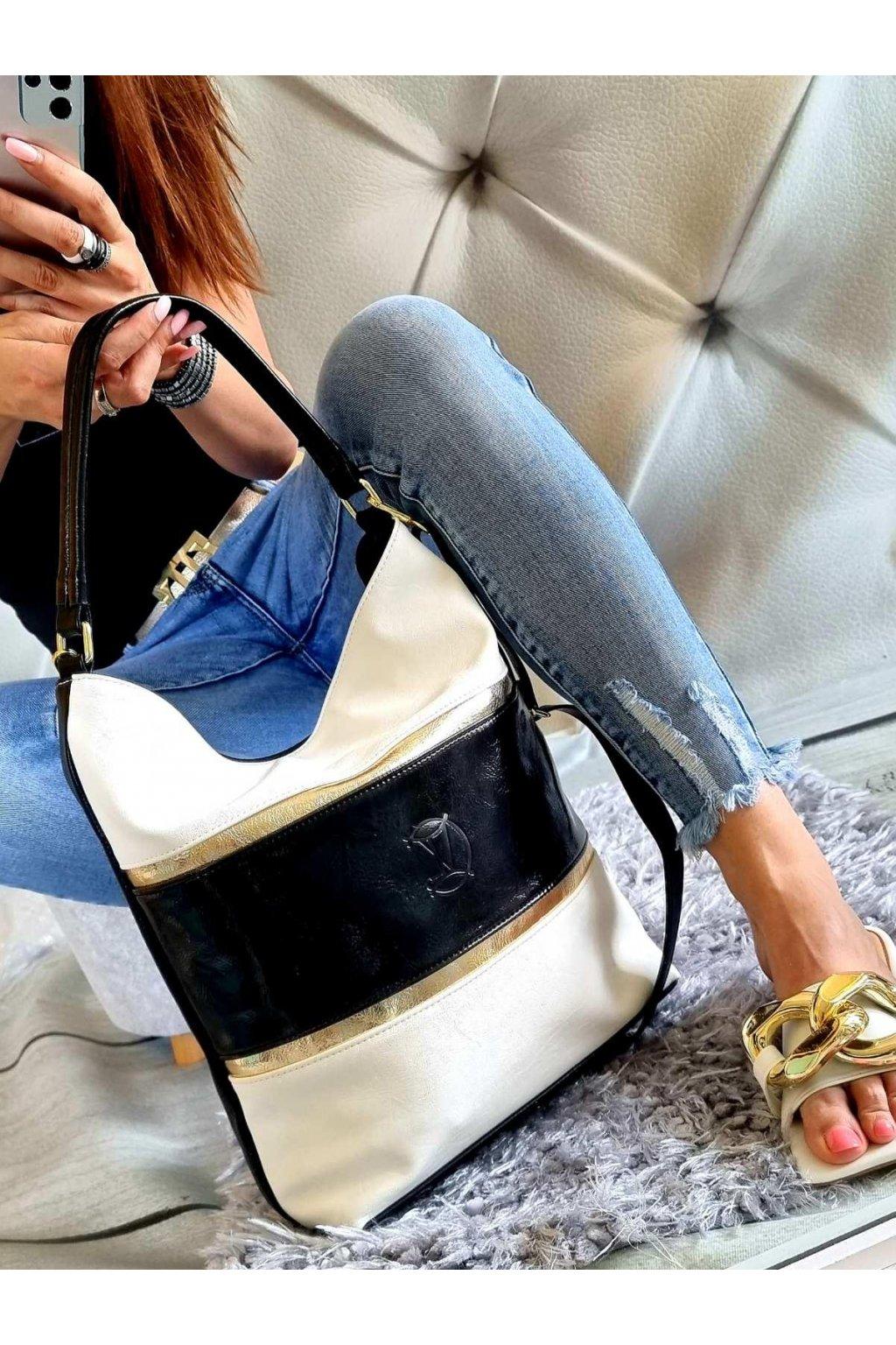 kabelka vittoria značková luxusní kabelka černobílá