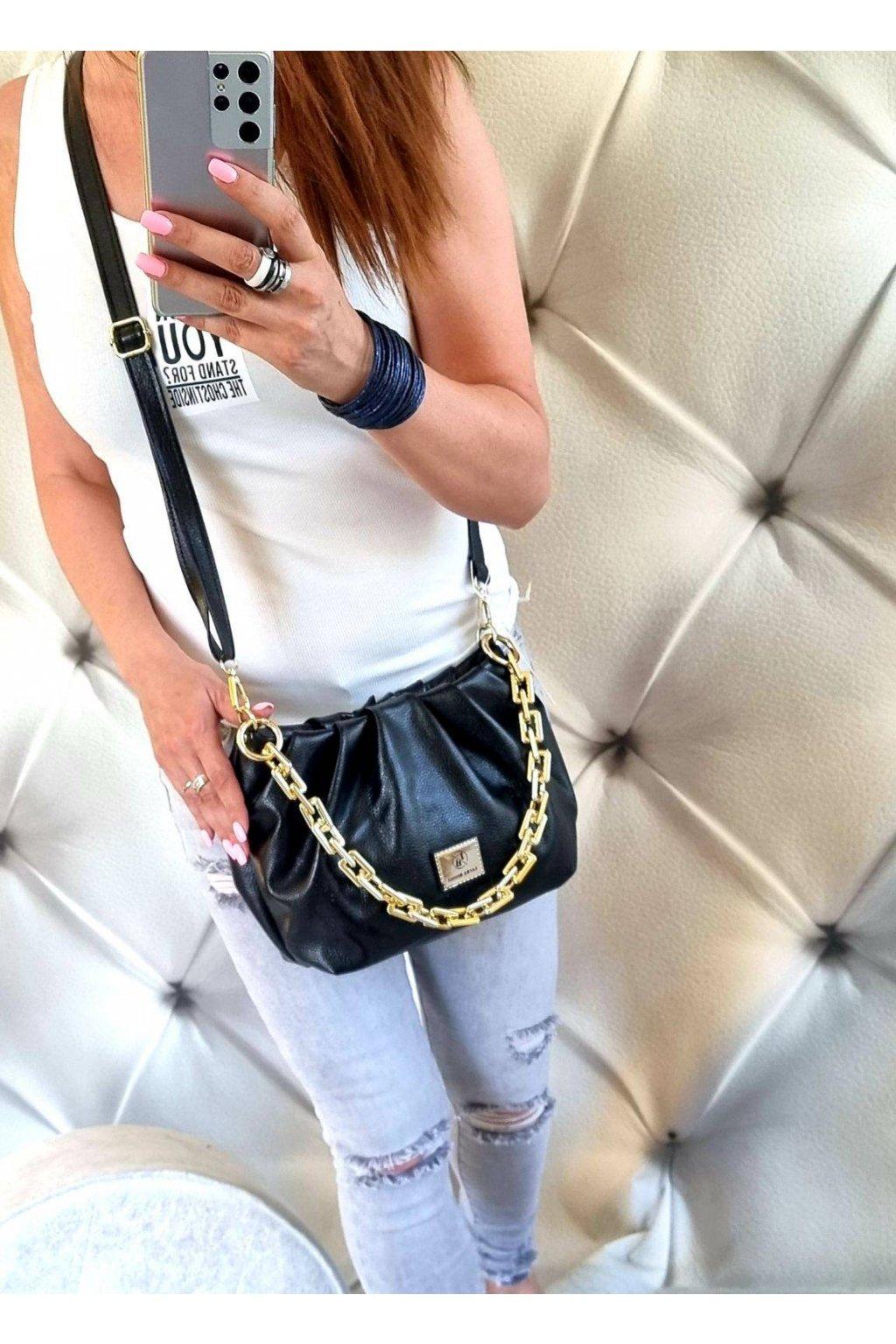 Dámská kabelka crossbody Laura Biaggi černá