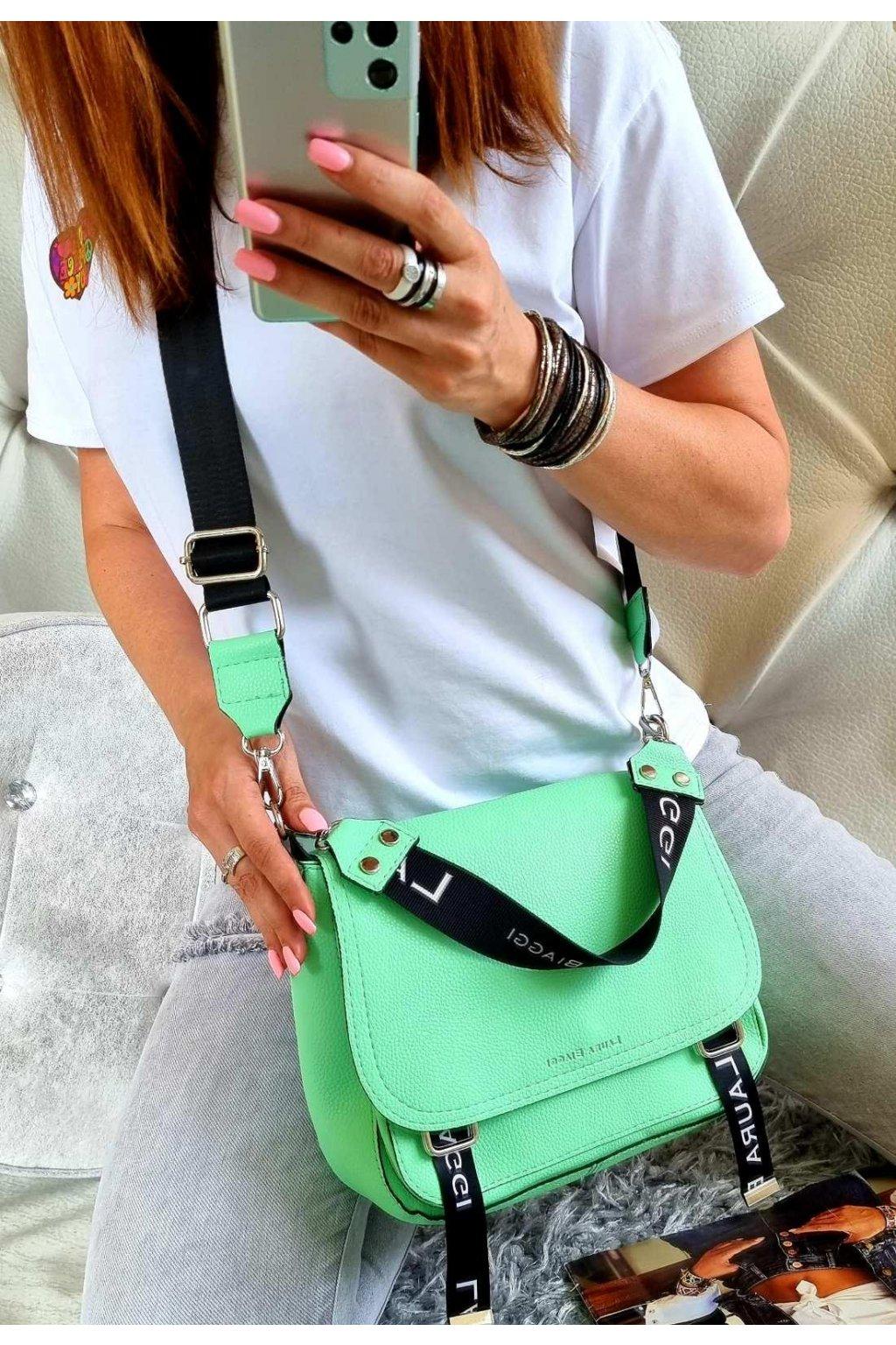 crossbody edition zelená značková kabelka laura biaggi luxusní kabelka