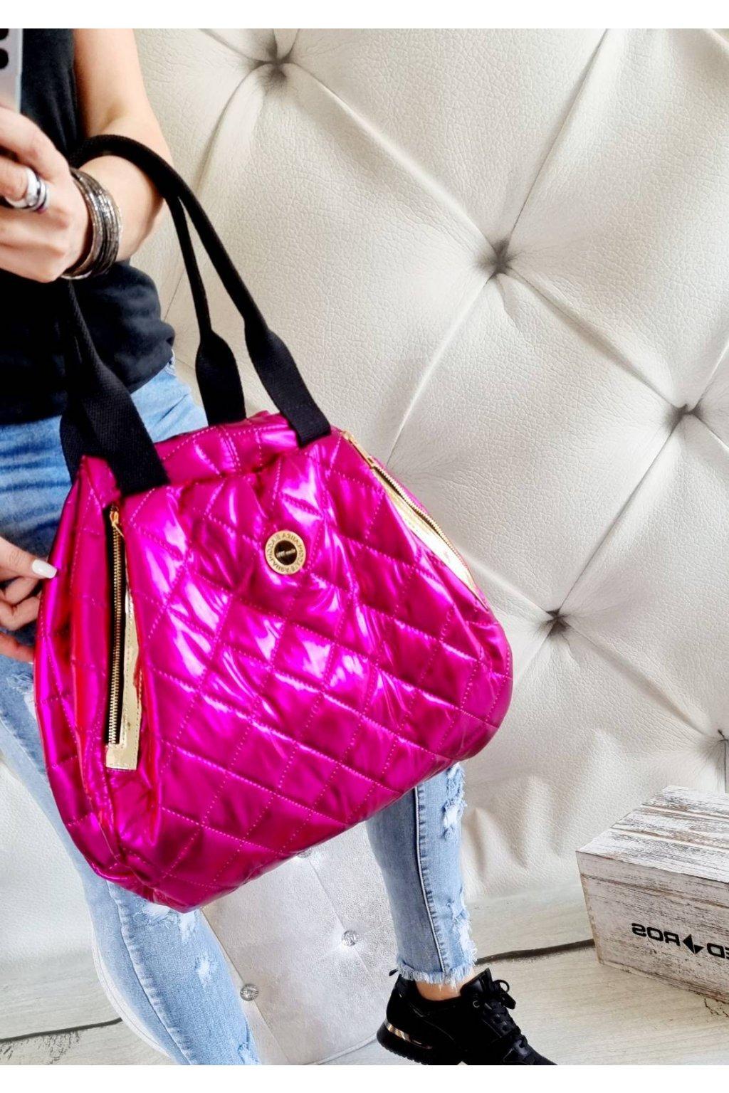 KABELKA laura biaggi extravagant trendy značková luxusní kabelka FUXIA