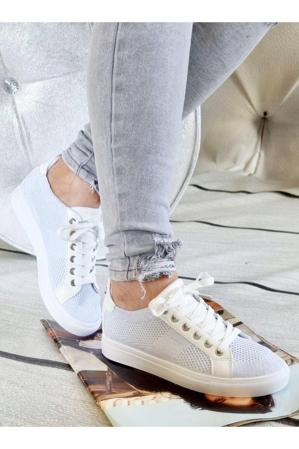 tenisky SENDY bílé plátěné trendy