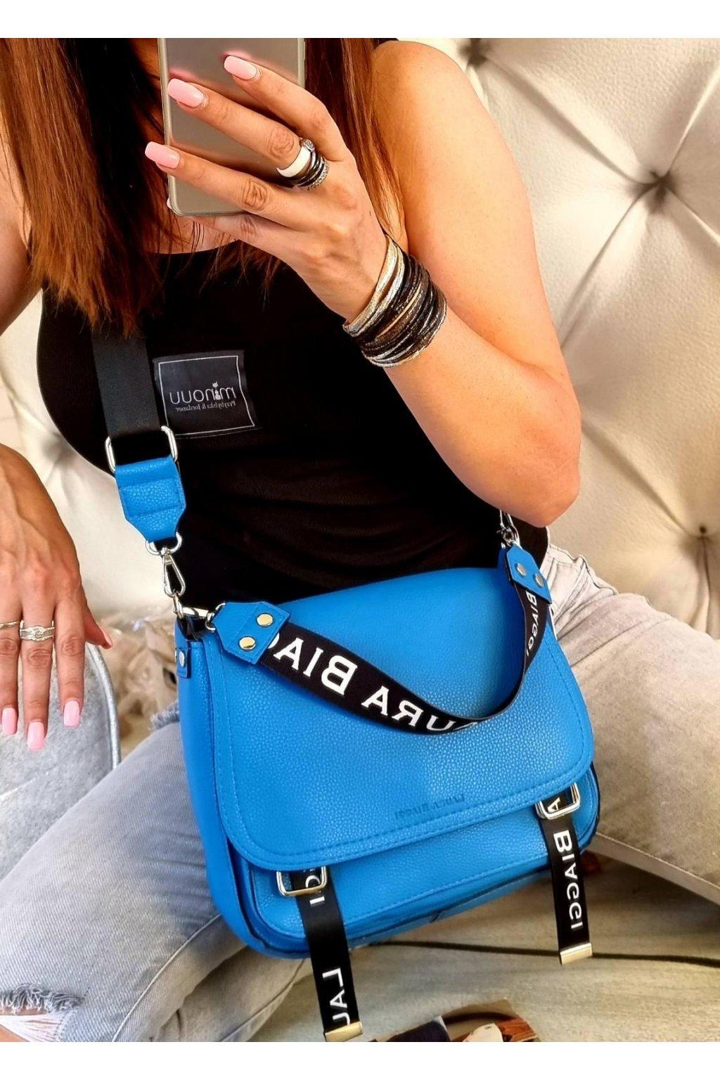 crossbody edition modrá laura biaggi luxusní značková kabelka