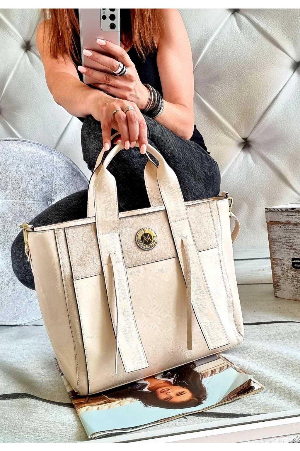 kabelka trendy béžová značková luxusní kabelka do ruky vincentto