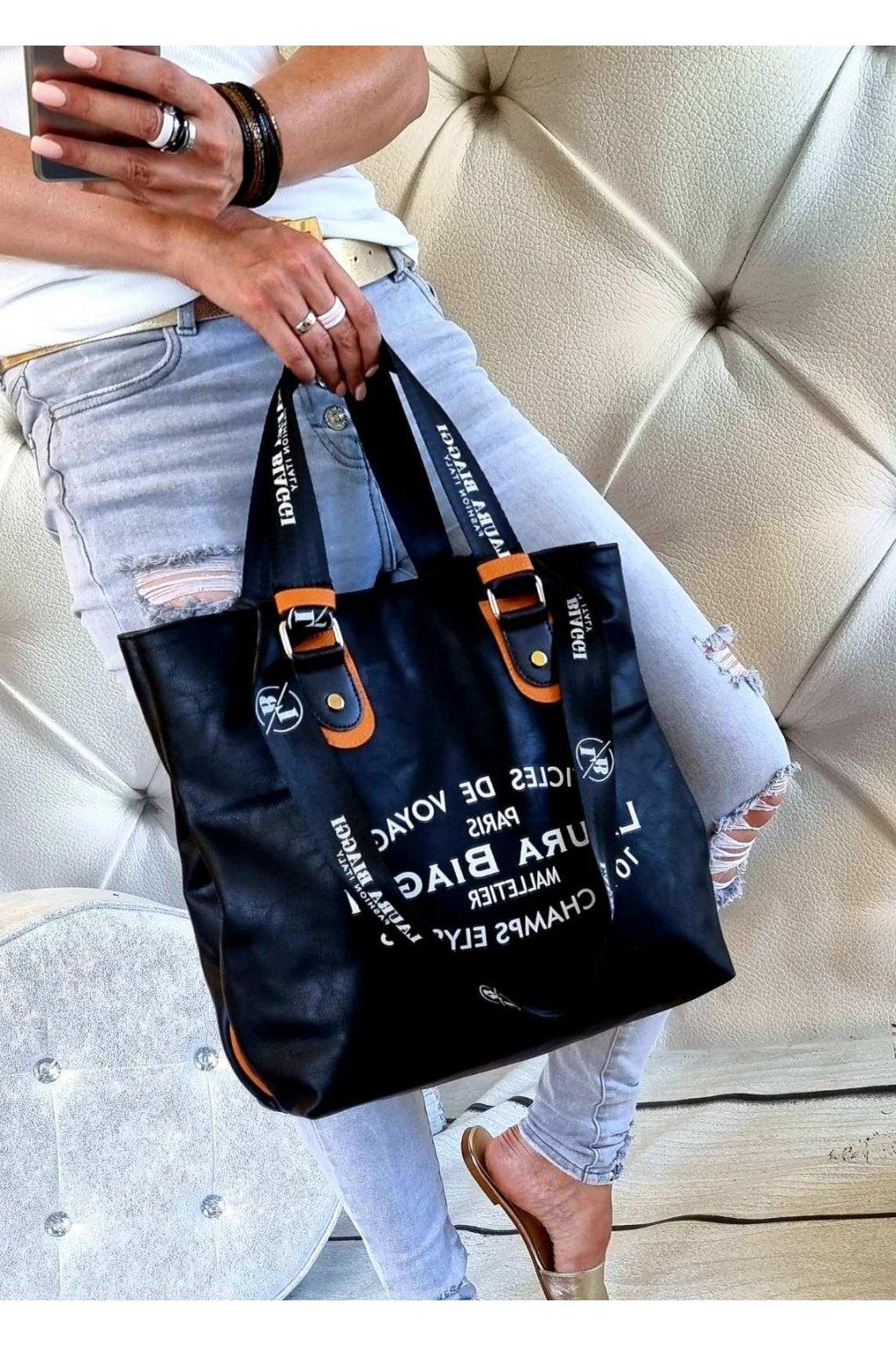 biaggis černá kabelka laura biaggi značková luxusní kabelka