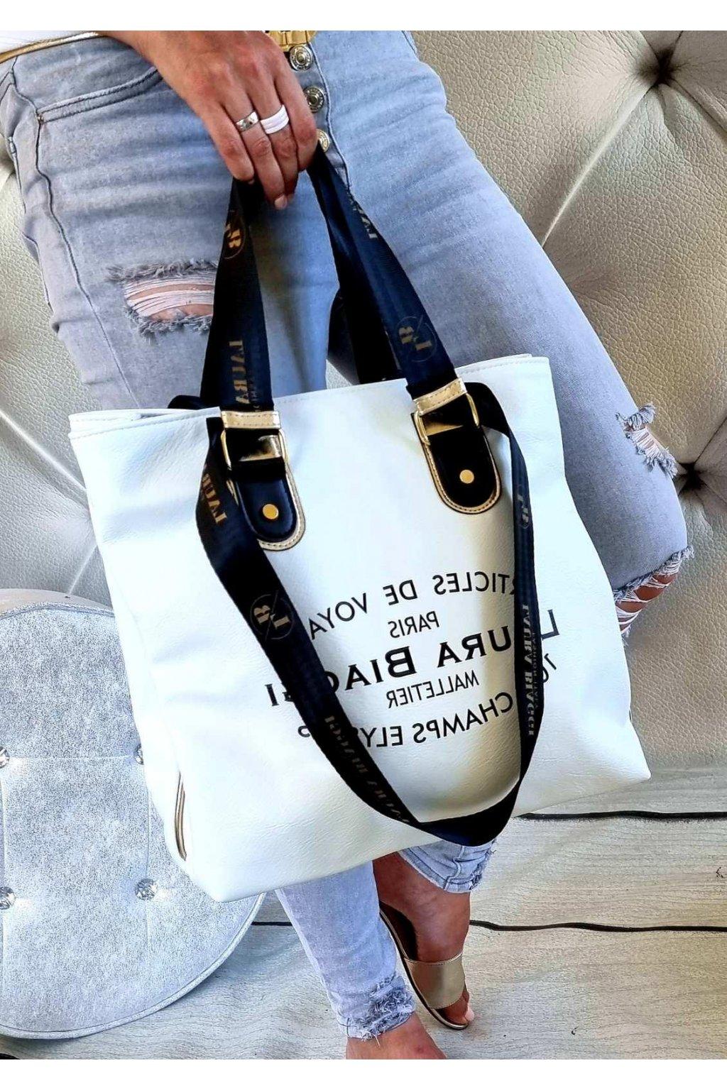 biaggis BÍLÁ kabelka laura biaggi značková luxusní kabelka