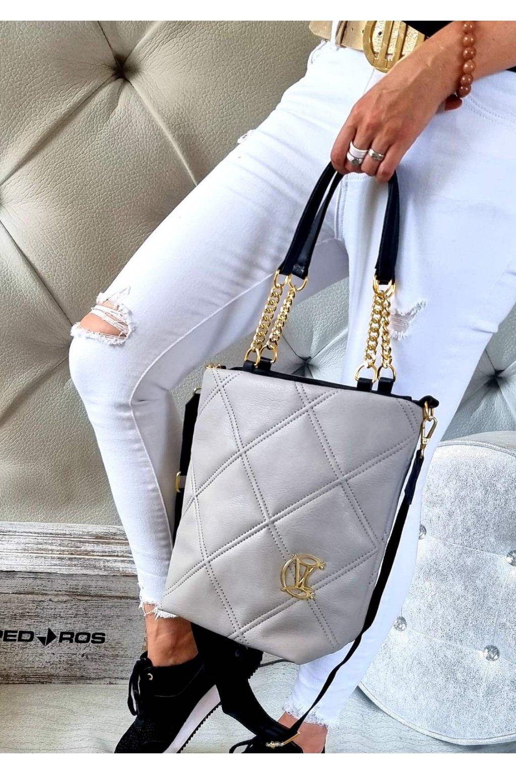 kabelka značková luxusní trendy vittoria lucca šedá