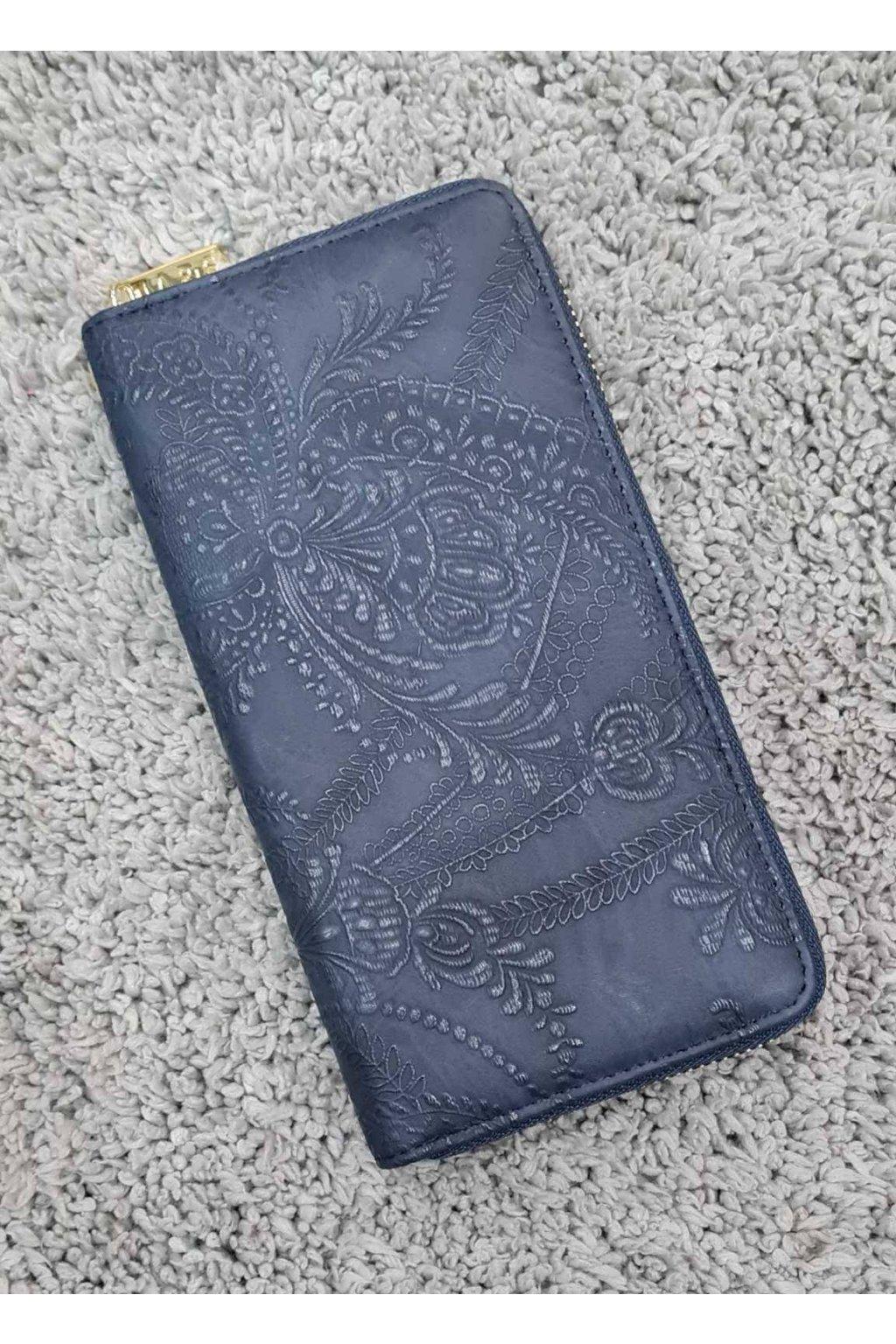 Dámská peněženka Flower modrá