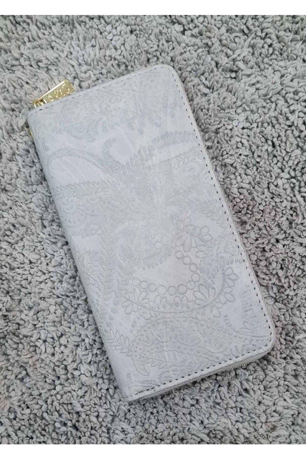 Dámská peněženka Flower šedá