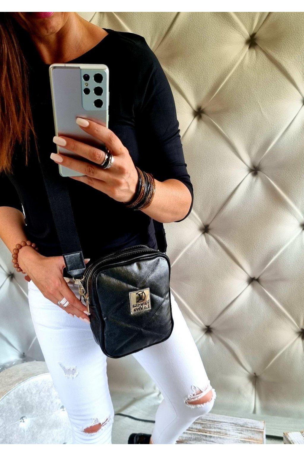 kabelka crossbody značková luxusní trendy vittoria lucca III černá