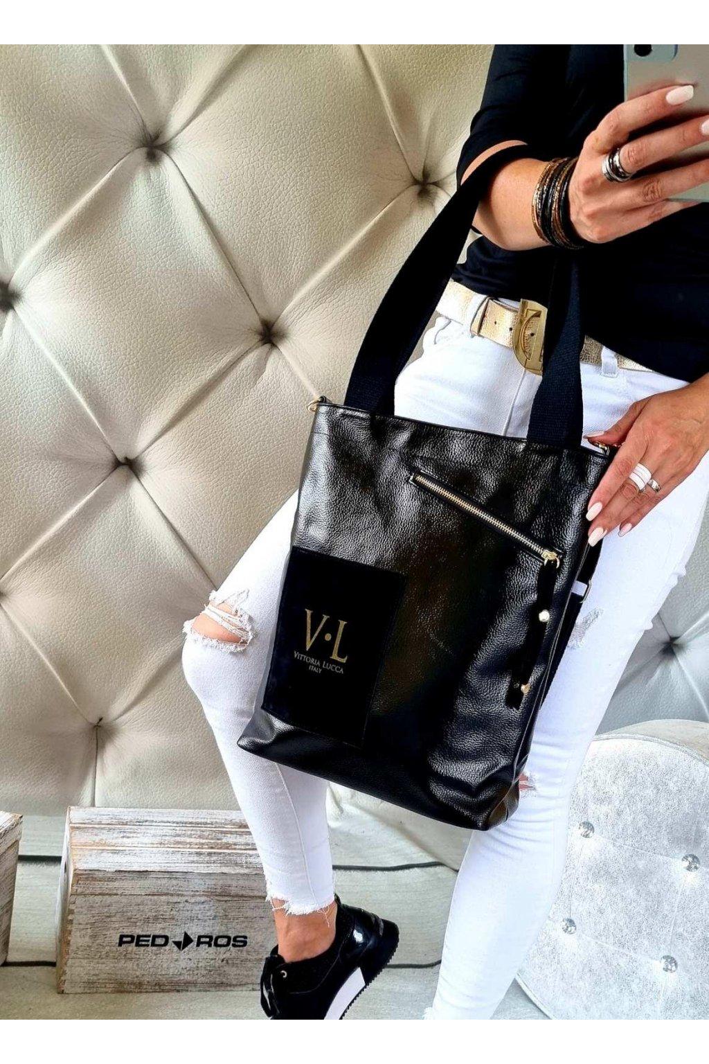 kabelka značková luxusní trendy vittoria lucca III černá