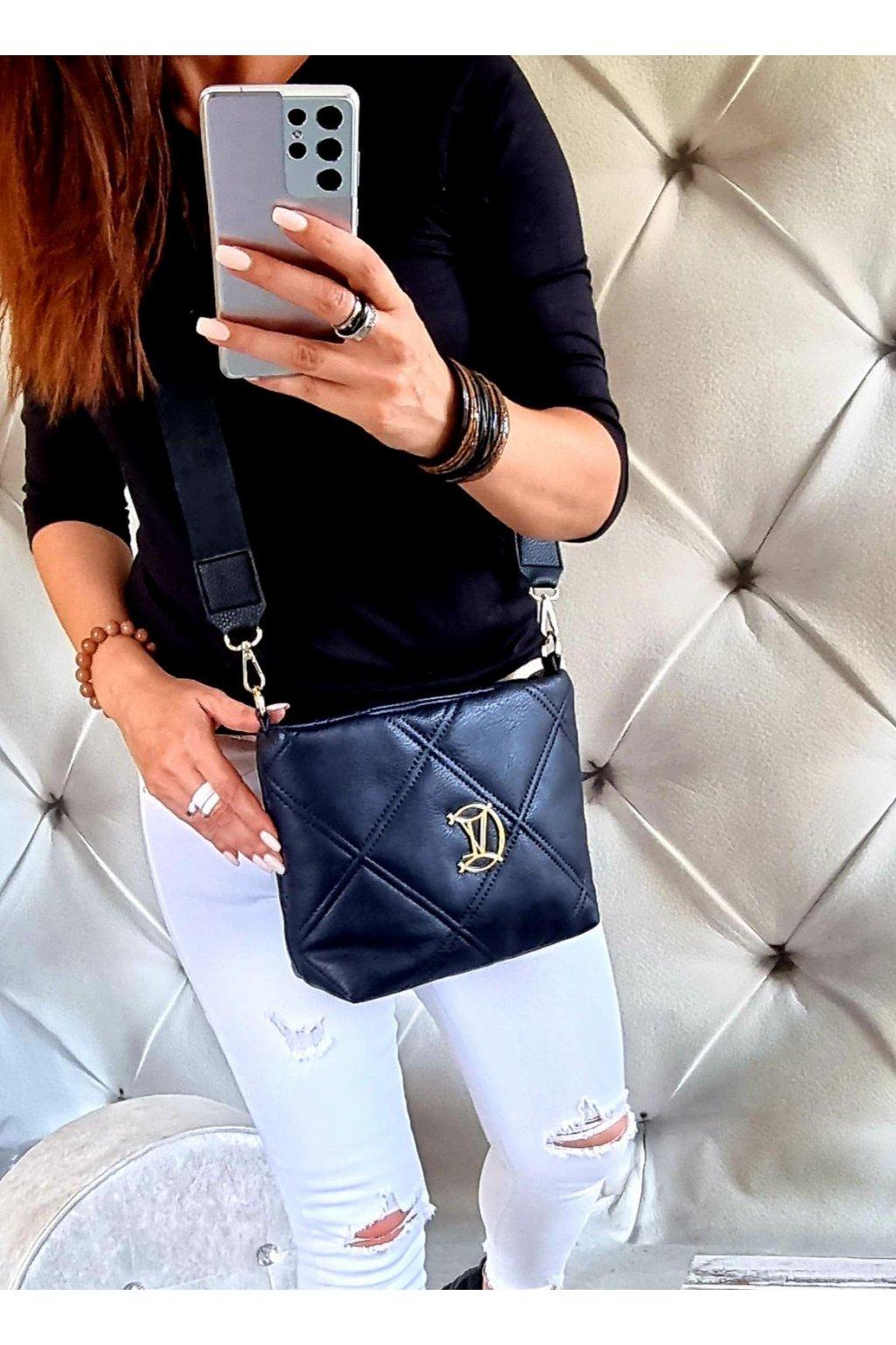 KABELKA luxusní crossbody značková vittoria IV modrá trendy