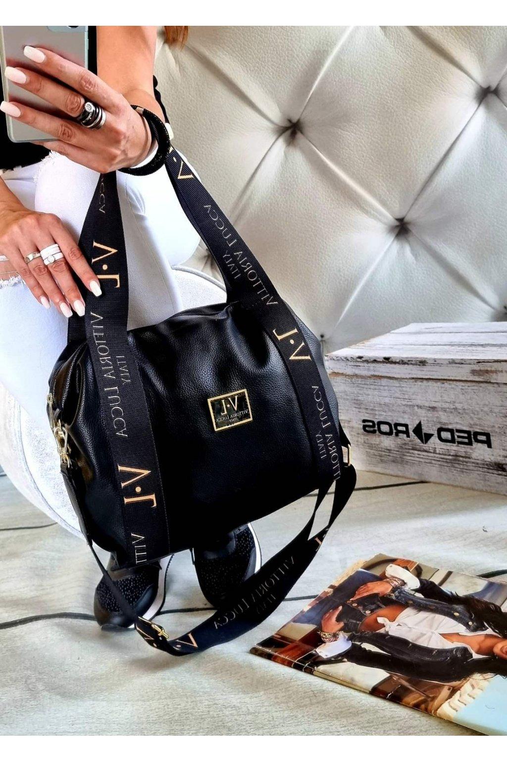kabelka vittoria lucca fashion černá značková exklusivní kabelka trendy
