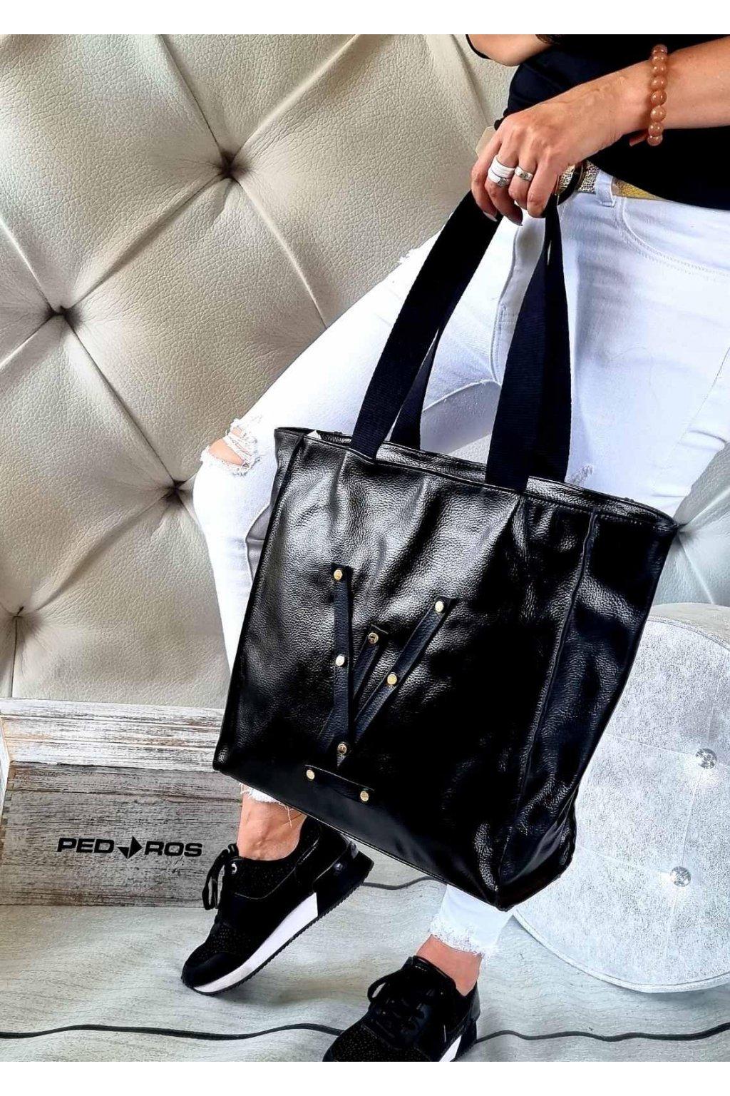 kabelka Vittoria Lucca VI značková trendy kabelka luxusní nadčasová černá