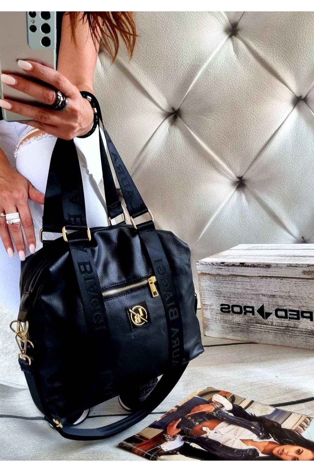 kabelka laura biaggi fashion černá značková exklusivní kabelka trendy