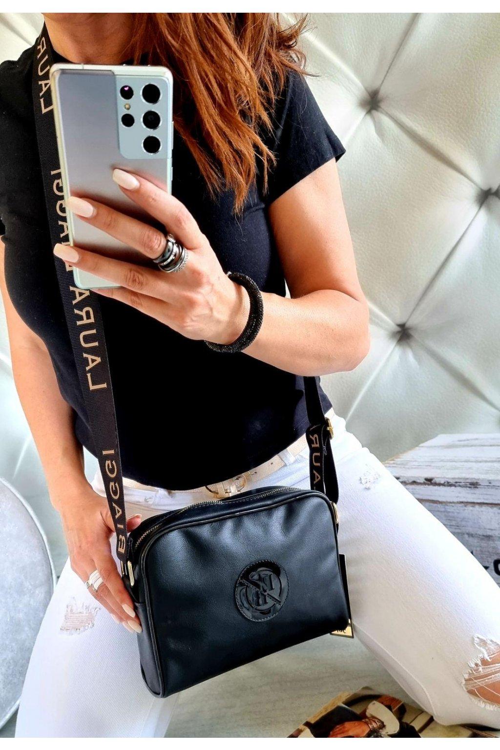 crossbody laura biaggi spoty černá značková luxusní kabelka