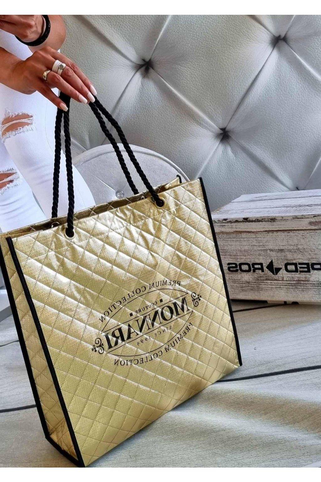 nákupní taška monnari zlatá