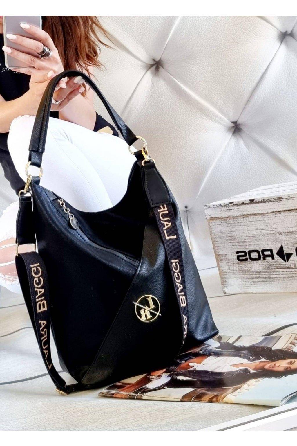 Trendy dámská kabelka Laura Biaggi Glory černá