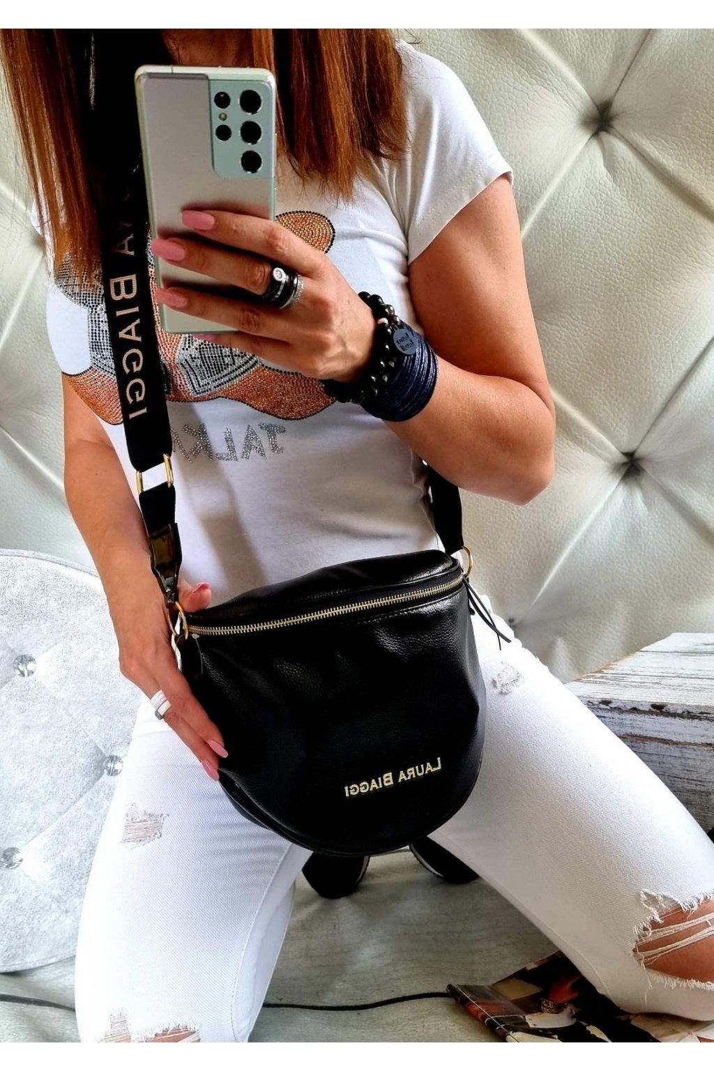 KATYS černá crossbody luxusní značková kabelka laura biaggi