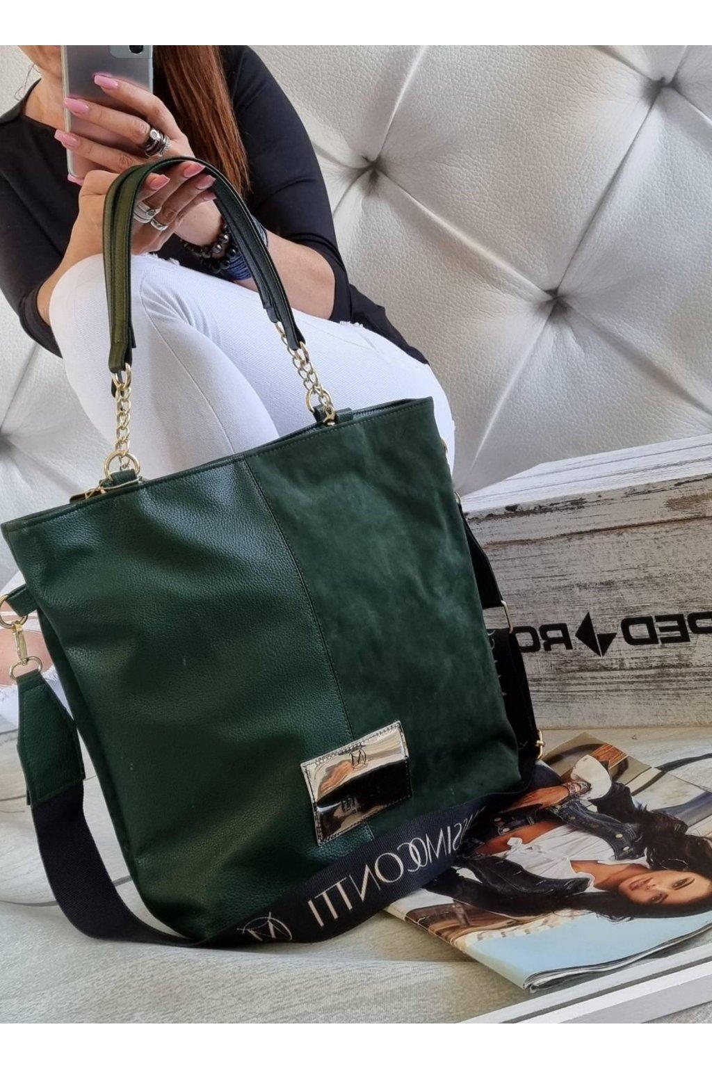 kabelka massimo conte elegant značková luxusní kabelka zelená
