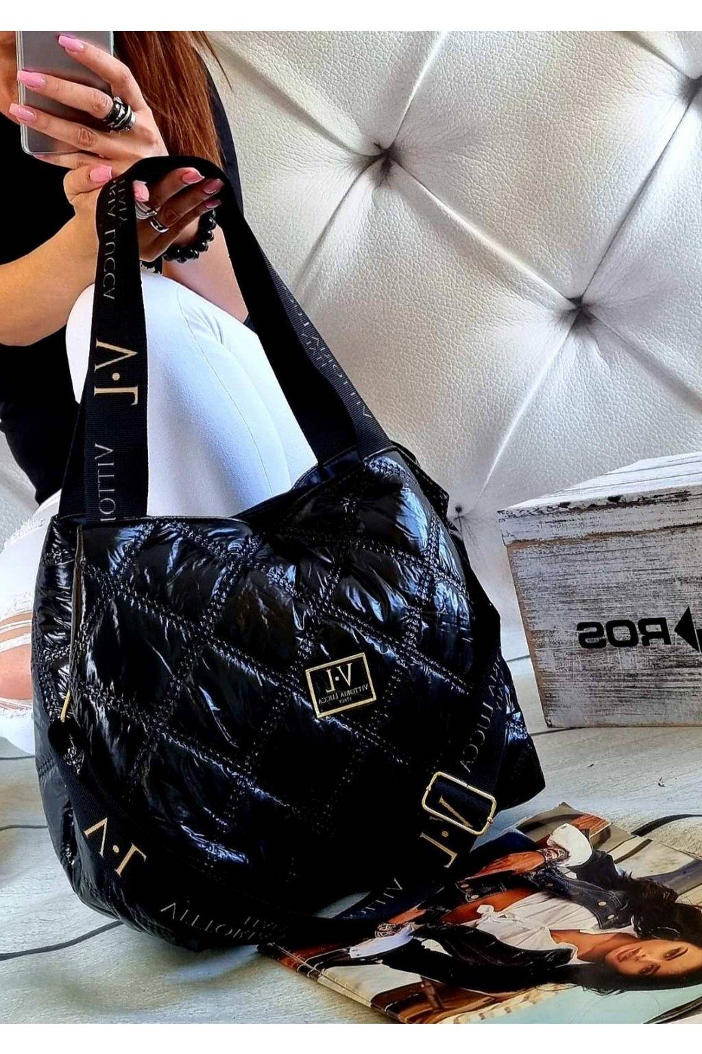 Dámská trendy kabelka Vittoria Lucca Italy černá