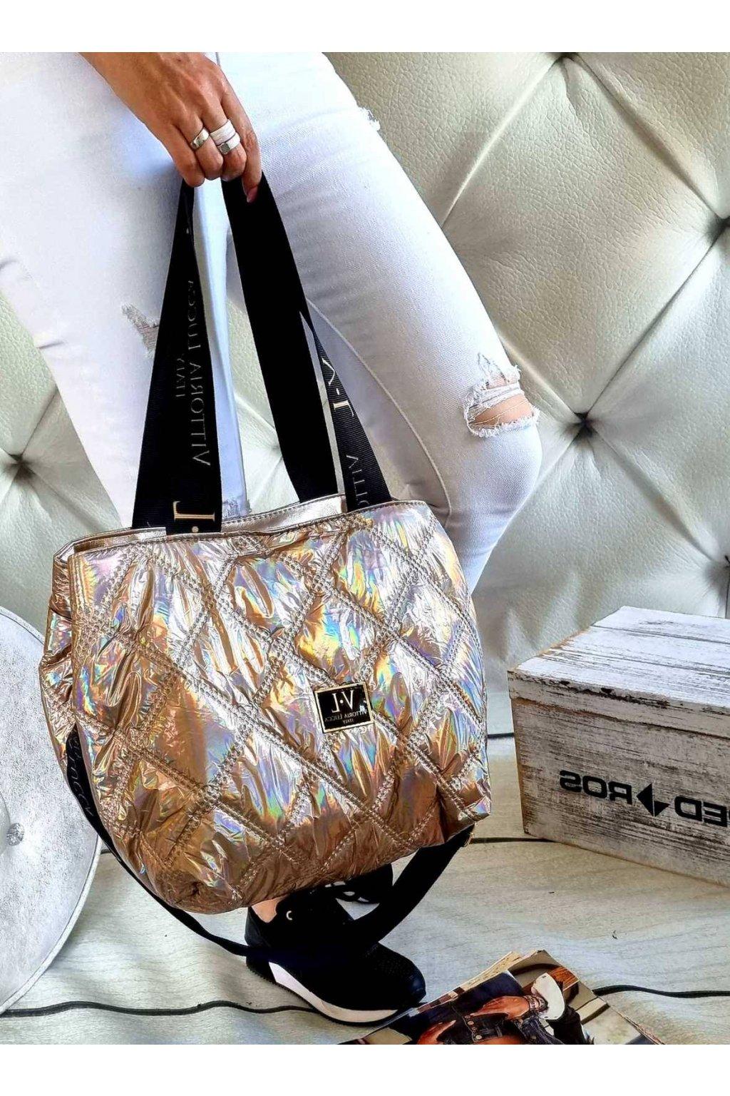 Dámská trendy kabelka Vittoria Lucca Italy měděná