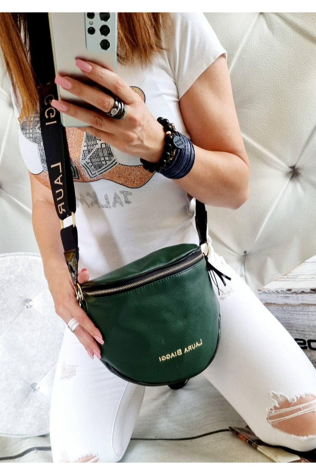 KATYS tmavě zelená crossbody luxusní značková kabelka laura biaggi