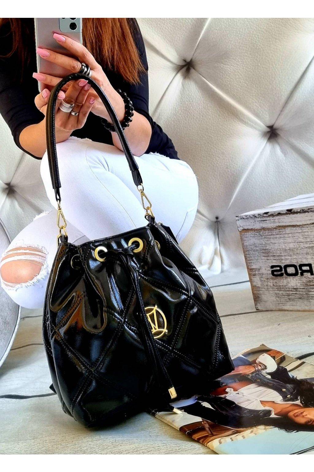Dámská kabelka Massimo vak černý lak