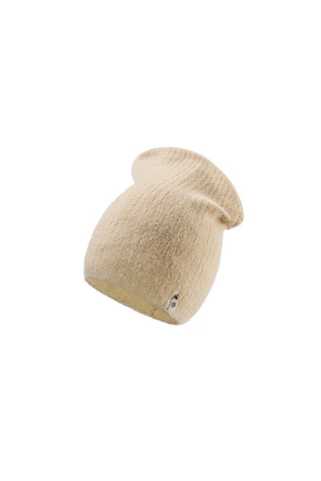 ČEPICE woolk LARA BÉŽOVÁ ČEPICE