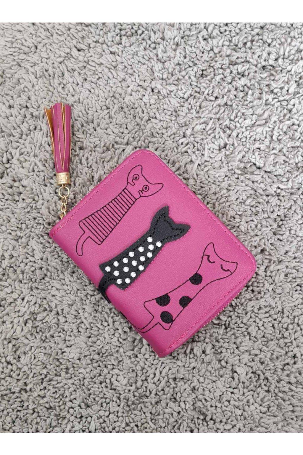 Dámská peněženka Cats růžová