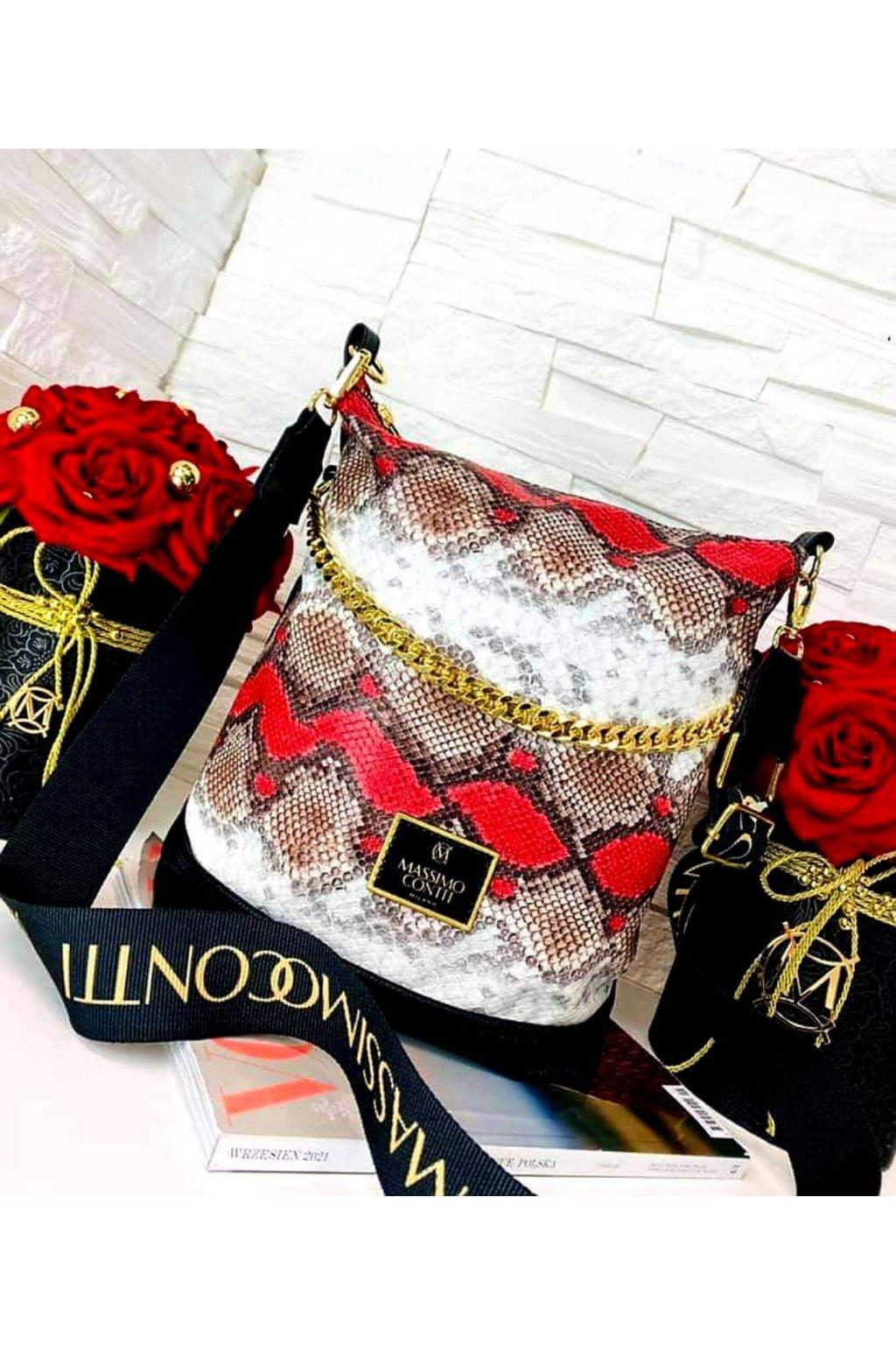kabelka Massimo Contti odlehčená luxusní kabelka crossbody s řetězem mix