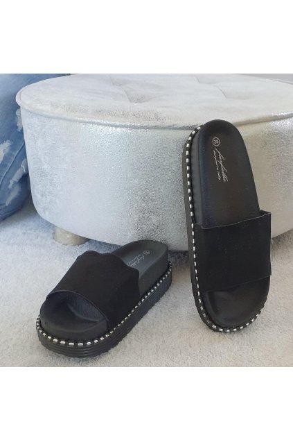 Trendy pantofle Charlotte černé