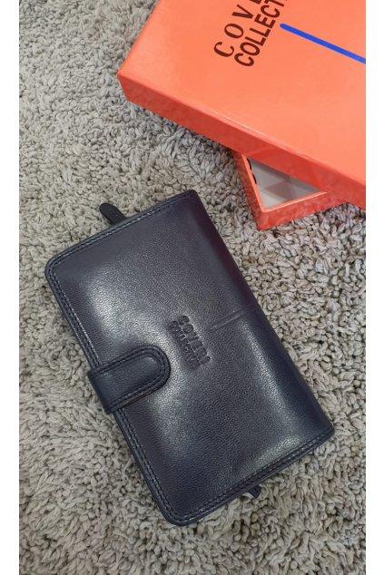 Kožená peněženka Coveri modrá