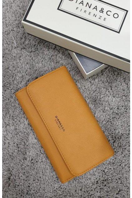 Značková peněženka Diana&co žlutá