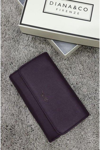 Značková peněženka Diana&co fialová