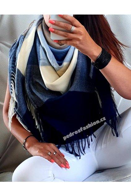 Šátek Torino modrý