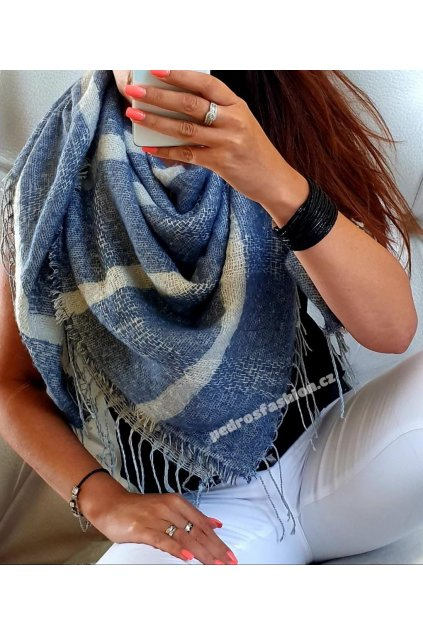 Šátek Lazio modrý